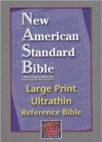 NASB Ultrathin Large Print Reference Bible - Black Calfskin