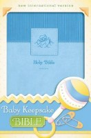 NIV Baby Keepsake Bible - Blue Imitation Leather