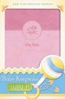 NIV Baby Keepsake Bible - Pink Imitation Leather