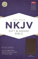 NKJV Gift & Award Bible - Brown Imitation Leather