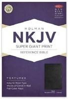 NKJV Super Giant Print Reference Bible - Black Bonded Leather