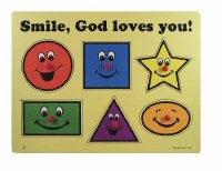 Wooden Puzzle - Smile, God Loves You!