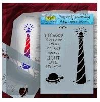 Bible Journaling Stencils Lighthouse