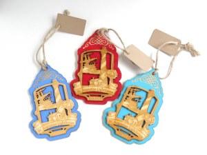 Ornament-Wood w/ship