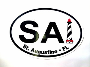 Magnetic Oval Sticker