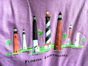 Fl Lighthouse T-shirts M Orchi