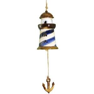 Ceramic Lighthouse Bell Chime