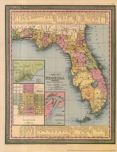 Map of Florida 1850
