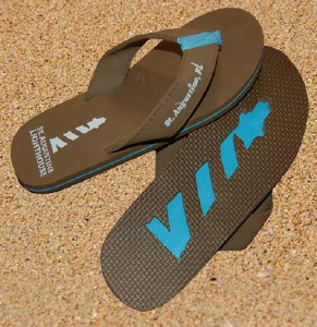 Flip-Flops Adult XS Brown/Blue