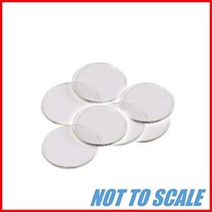 Plastic Counters : Plastic Discs : 22mm Diameter : Clear : (40)