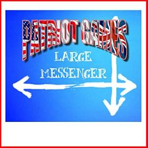 Custom Messenger Bag Blue