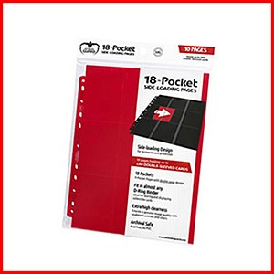 Ultimate Guard : 18-Pocket Pages Side Loading : Red (10)