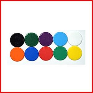 Plastic Counters : Plastic Discs : 12mm Diameter : Orange : (50)