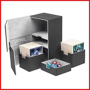 Ultimate Guard : TwinFlip Tray : 200+ Cards : Black