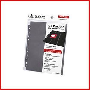 Ultimate Guard : 18-Pocket Pages Side Loading : Grey (10)