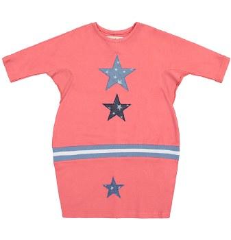Denim Stars Dress Cherry 4