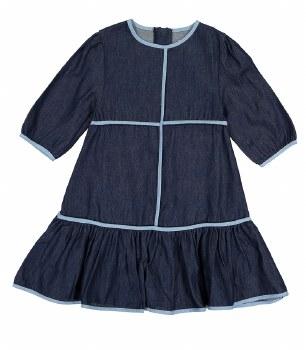 Denim Dress w/ Trim Dark 16