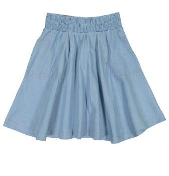 Denim Circle Skirt Light 6