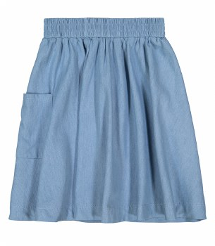 Denim Pocket Skirt Light 6