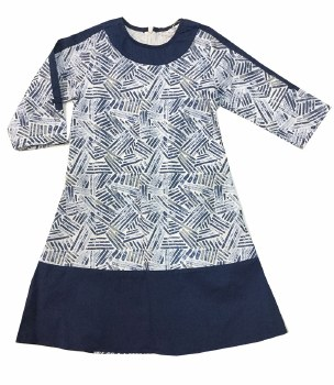 Printed Dress Blue 4