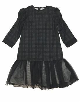 Mesh Low Waist Dress Black 12
