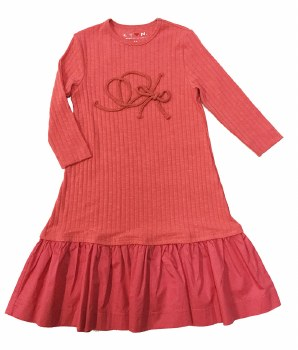 Ribbed Rope Dress Coral 14