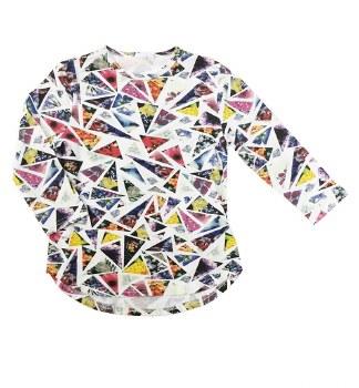 Floral Triangle Tshirt Multi 1