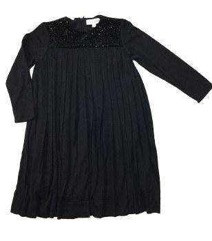Studded Pleated Dress Black 4