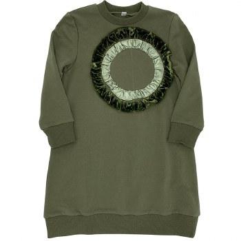 Dress W/ ruffled Circle Olive