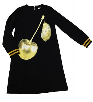 Cherry Dress Black/Gold 7