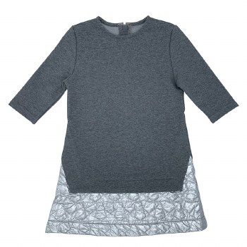 Dress W/ Quilted Bottom Grey 7