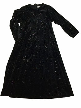 Velour Glitter Robe Black 16
