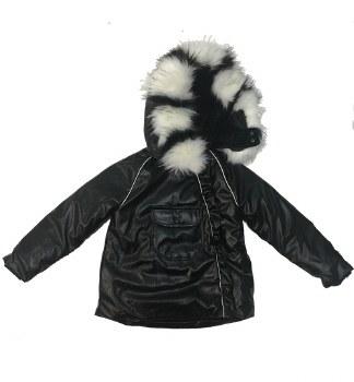 Metallic Winter Coat Black 8