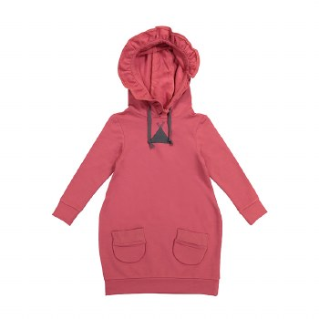 Hooded Pocket Dress Rose 10