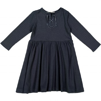 Rib Dress Charcoal 14