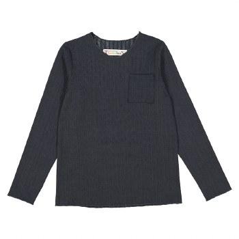 Rib Pocket Tshirt Charcoal 3