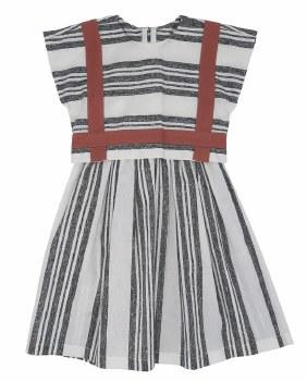 Striped Overlay Jumper White/C