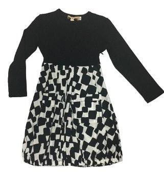 Geometric Dress Black/White 4
