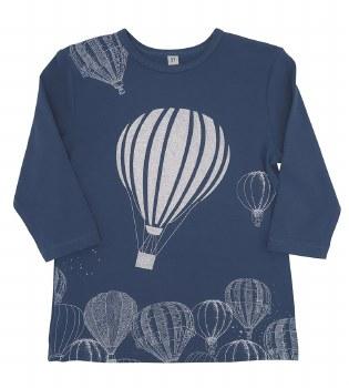 Hot Air Balloon Tshirt Blue 7