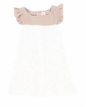 Analogie Flutter Dress White/T