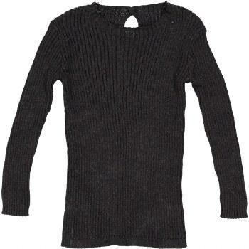 Analogie Rib Knit Sweater Blac