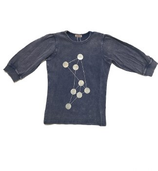Ribbed Denim Dot Tshirt Light