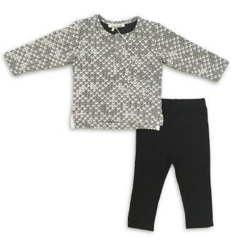 Textured Baby Set Grey/White 1