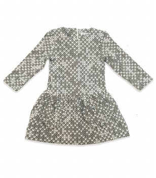 Textured Dress Grey/White 10