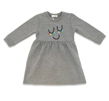 Dress W/ Colored Lashes Grey 4
