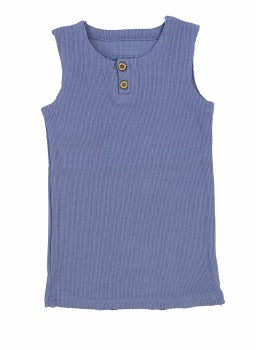 Ribbed Lil Legs Tank Blue 12M