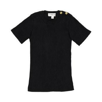 Analogie S/S Knit Top Black 18