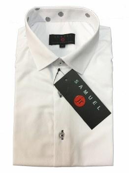 Slim S/S Shirt W/ Trim White 4