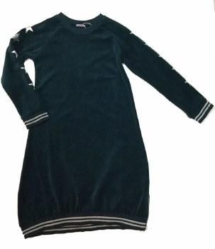 Velour Dress W/ Silver Stars T