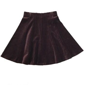 Panelled Velour Skirt Plum 6